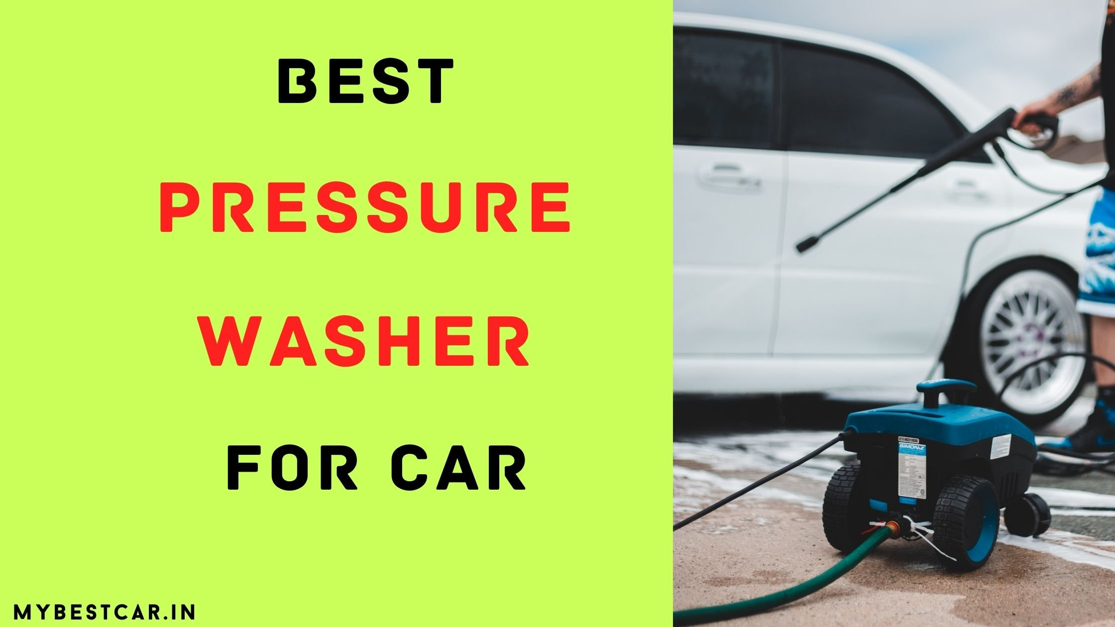 Best Pressure Washer For Car in India